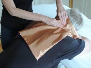 massagedoekje, massage op kleding, stoelmassage